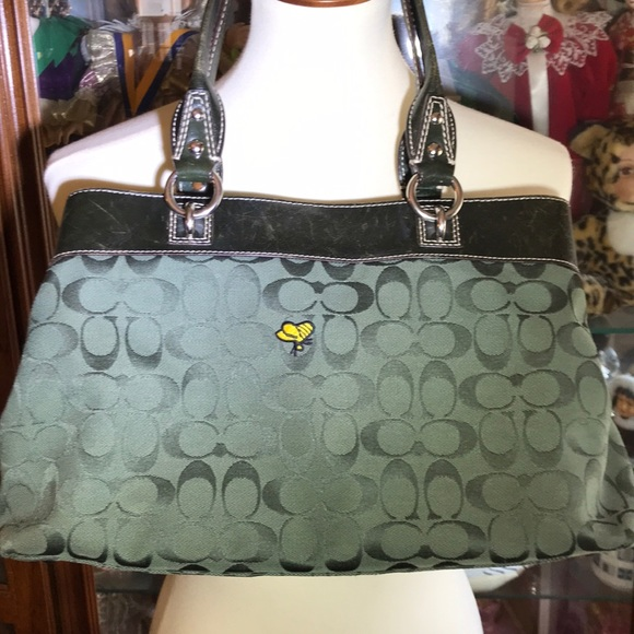 9e2763e77d Coach Bags | Hunter Green Signature Bumble Bee Purse | Poshmark
